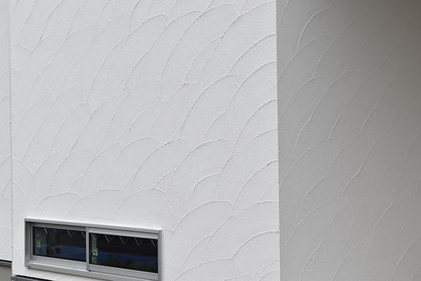 左官工事「モルタル外壁の施工写真」