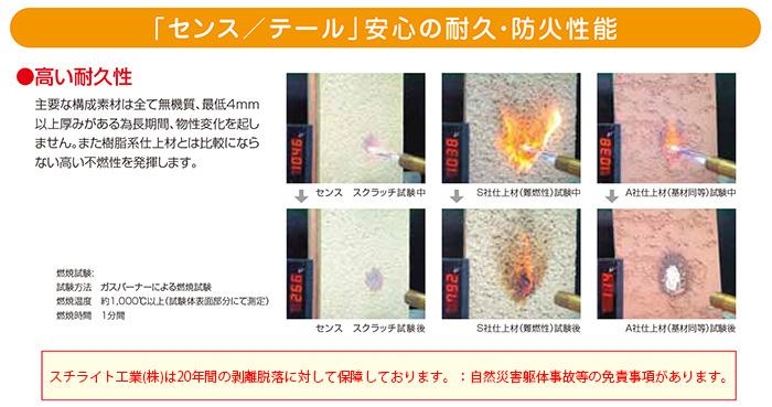 センス/テール安心の耐久・防火性能
